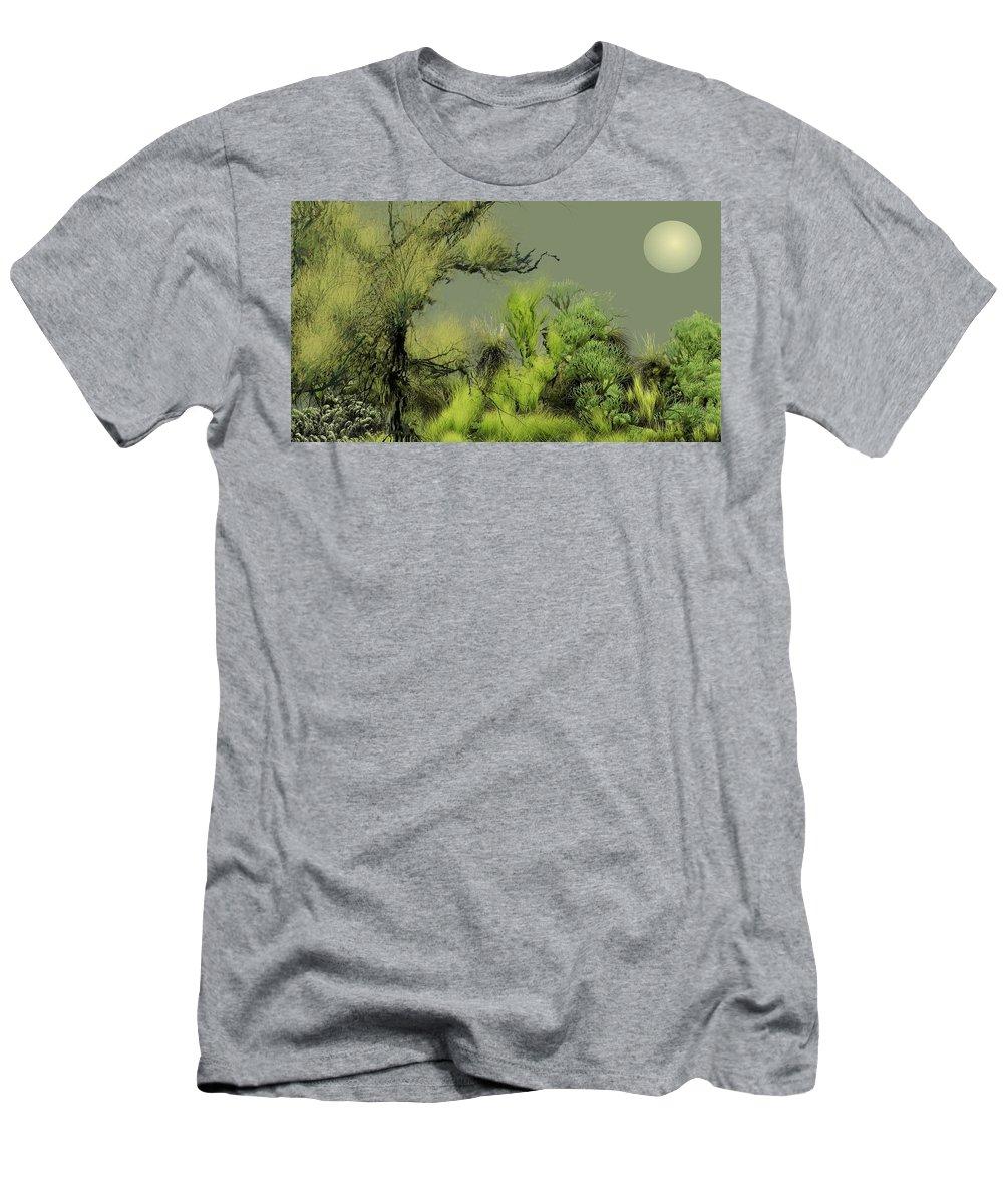 Digital Fantasy Painting Men's T-Shirt (Athletic Fit) featuring the digital art Alien Garden 2 by David Lane