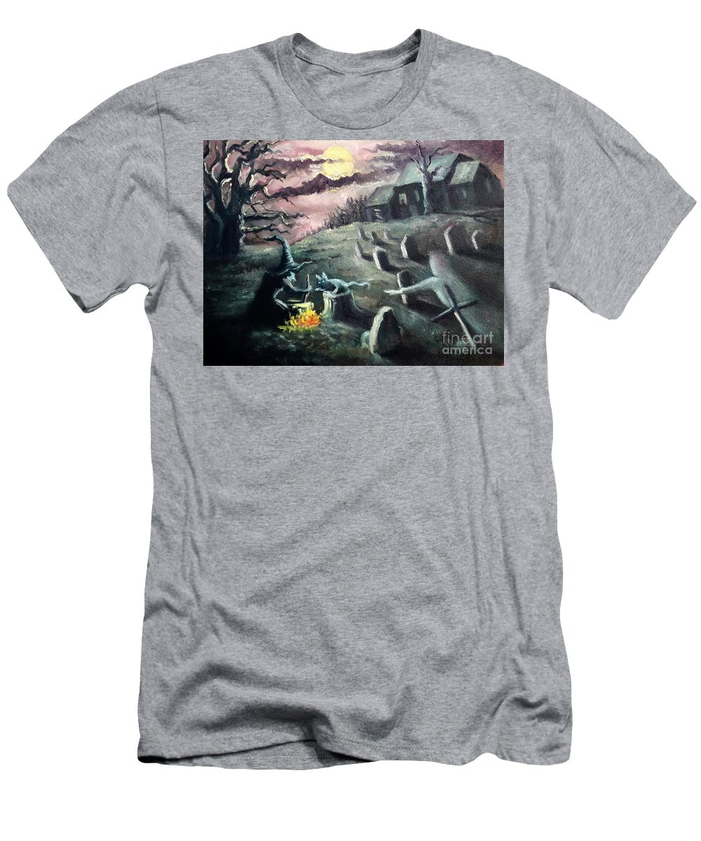 Halloween Men's T-Shirt (Athletic Fit) featuring the painting All Hallow's Eve by Randy Burns