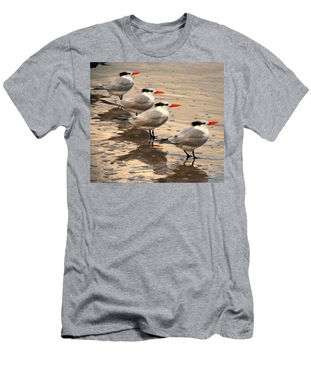 Wildlife Men's T-Shirt (Athletic Fit) featuring the photograph All Lined Up by Susanne Van Hulst