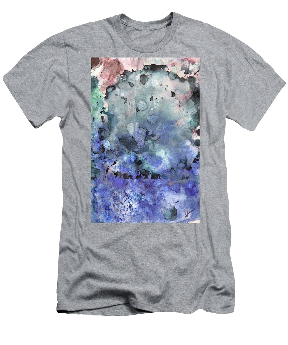 Remains Men's T-Shirt (Athletic Fit) featuring the painting All That Remains 2 Gates Of Hell by Tammy Finnegan