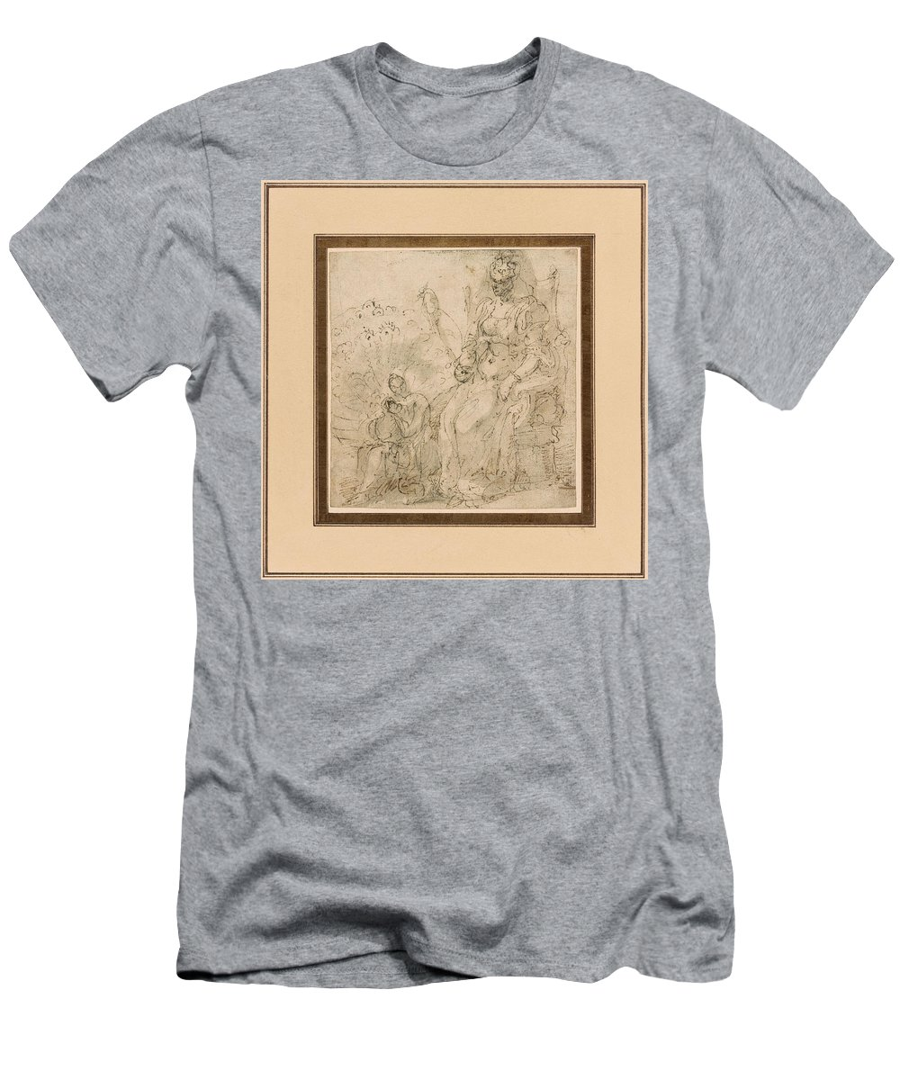 Giorgio Vasari 1511-1574 Allegory Of Pride Men's T-Shirt (Athletic Fit) featuring the painting Allegory Of Pride by MotionAge Designs