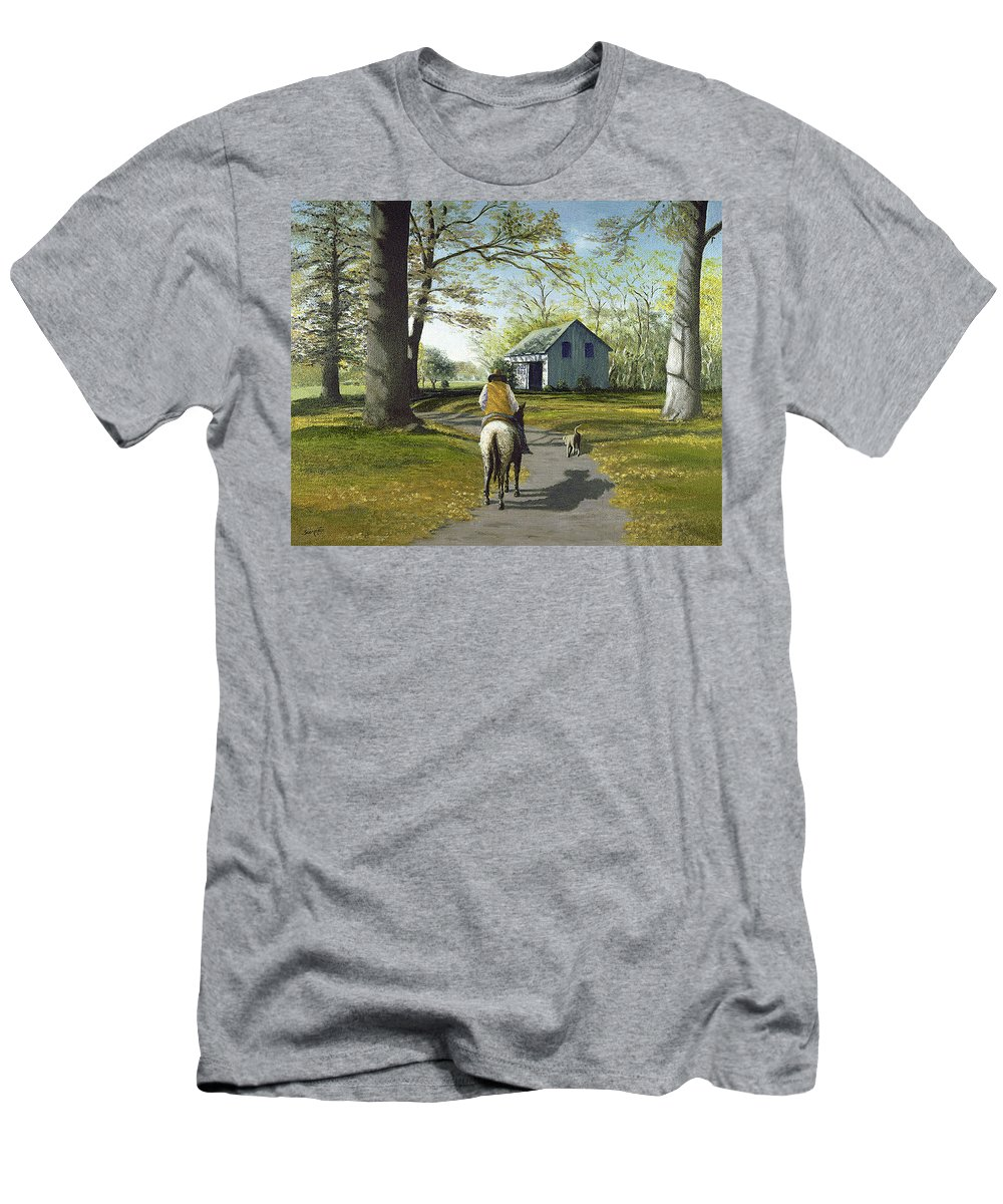 Men's T-Shirt (Athletic Fit) featuring the painting Almost Home 16x20 by Tony Scarmato