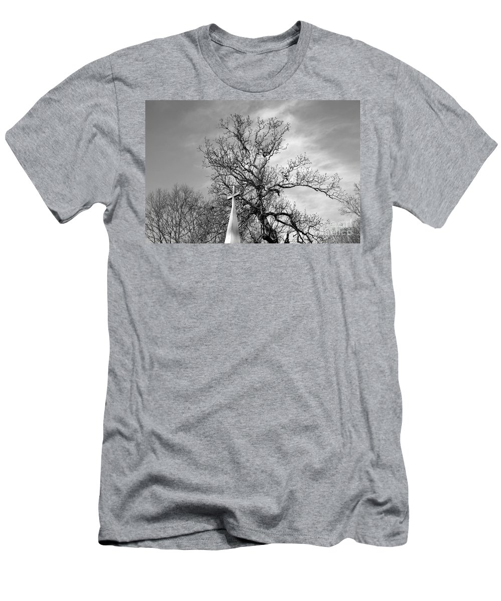 Alone Men's T-Shirt (Athletic Fit) featuring the photograph Alone by Amanda Barcon