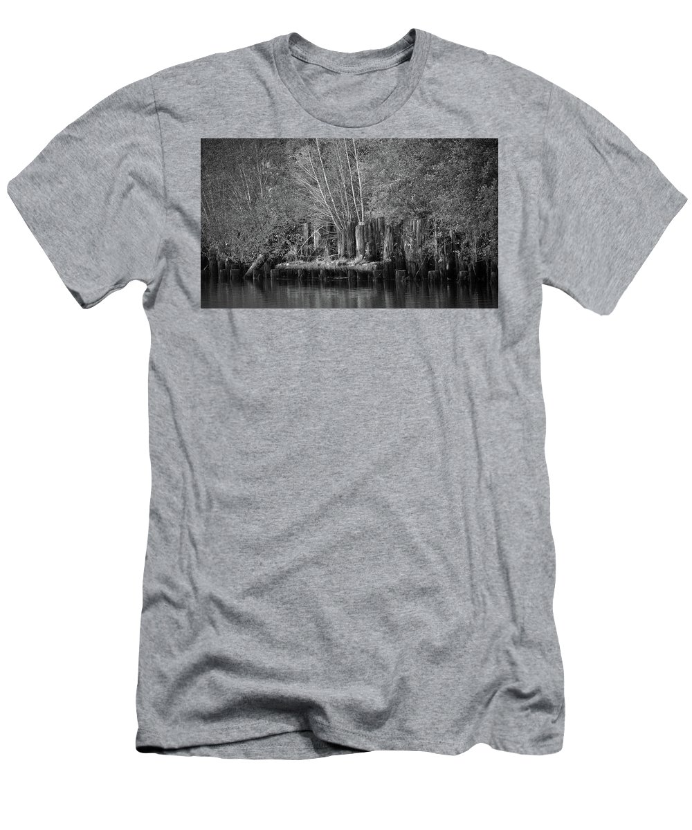 Idaho Men's T-Shirt (Athletic Fit) featuring the photograph Along The St. Joe by Whispering Peaks Photography