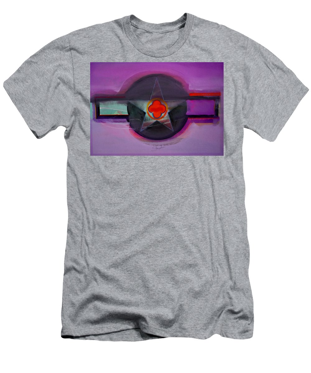 Star Men's T-Shirt (Athletic Fit) featuring the painting American Lilac by Charles Stuart