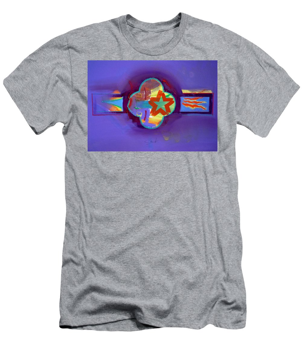 Star Men's T-Shirt (Athletic Fit) featuring the painting American Neon by Charles Stuart