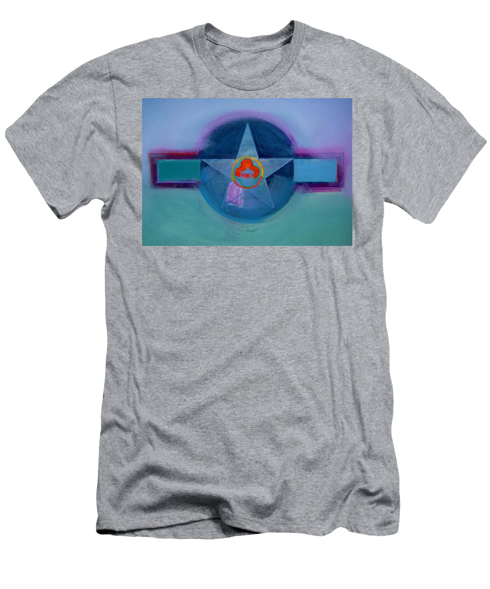 Star Men's T-Shirt (Athletic Fit) featuring the painting American Spiritual by Charles Stuart