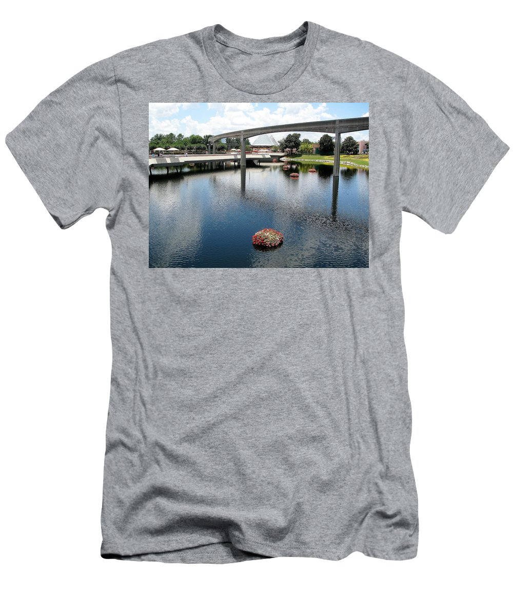 Amusement Park Men's T-Shirt (Athletic Fit) featuring the photograph Amusement Park by Kiran Kapadia