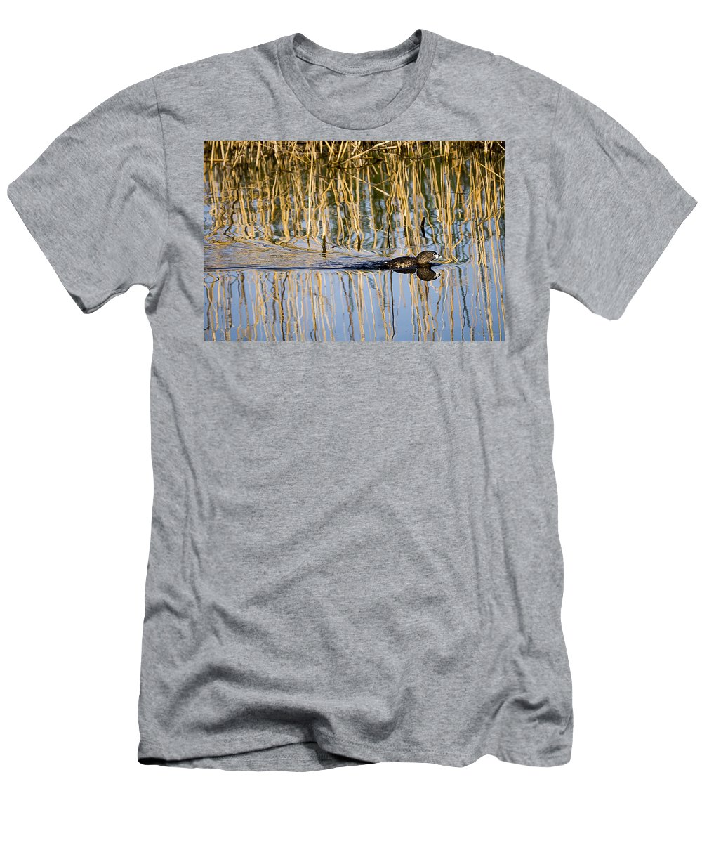 Wildlife Men's T-Shirt (Athletic Fit) featuring the photograph An Awful Hurry by Albert Seger