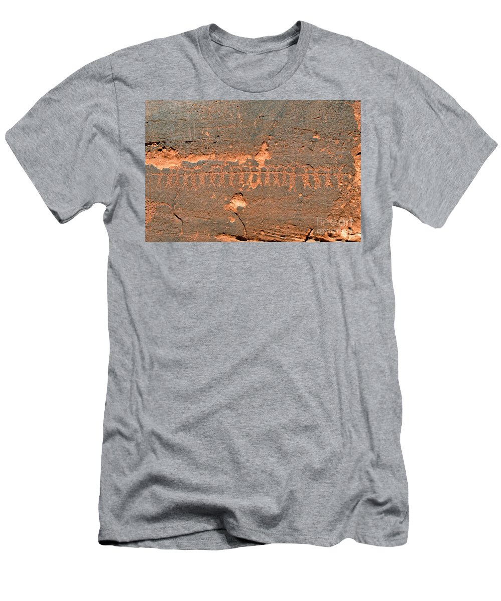 Anasazi Men's T-Shirt (Athletic Fit) featuring the photograph Anasazi Dancers by David Lee Thompson