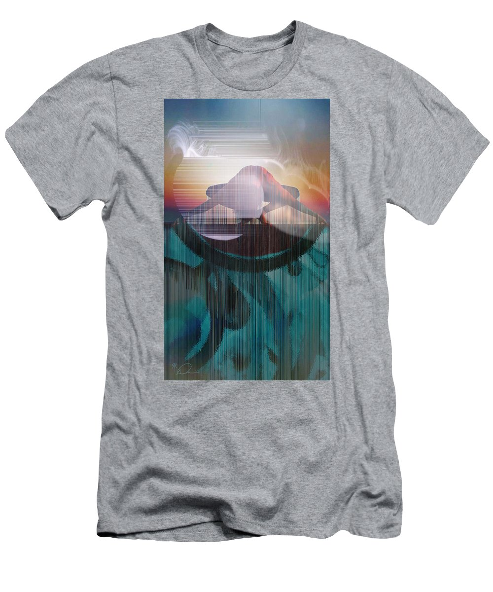Ancient Of Days Men's T-Shirt (Athletic Fit) featuring the digital art Ancient Of Days - After William Blake by David Derr
