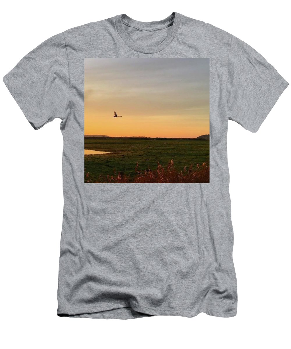 Natureonly T-Shirt featuring the photograph Another Iphone Shot Of The Swan Flying by John Edwards