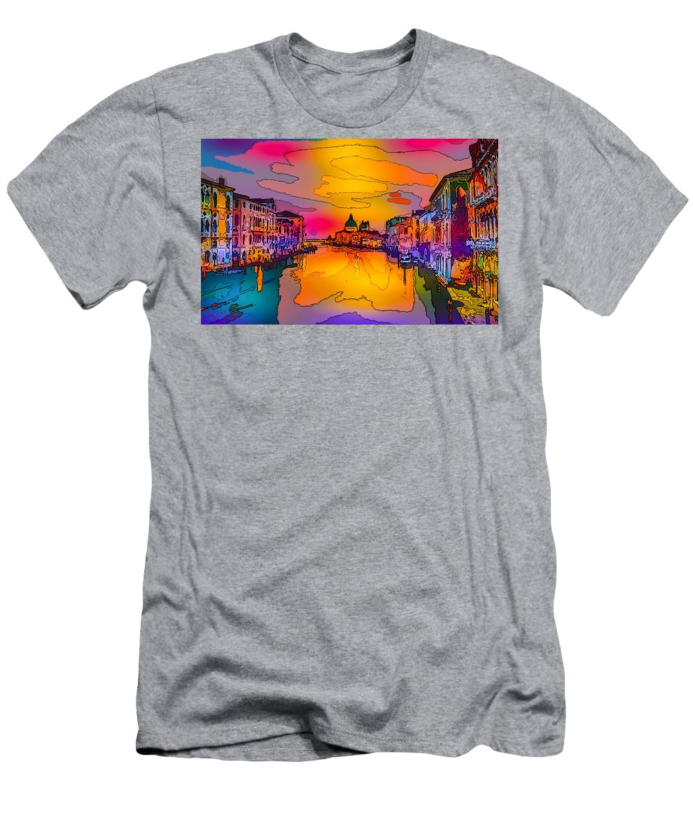 World's Men's T-Shirt (Athletic Fit) featuring the digital art Another Surreal Venice Sunset by Ron Fleishman