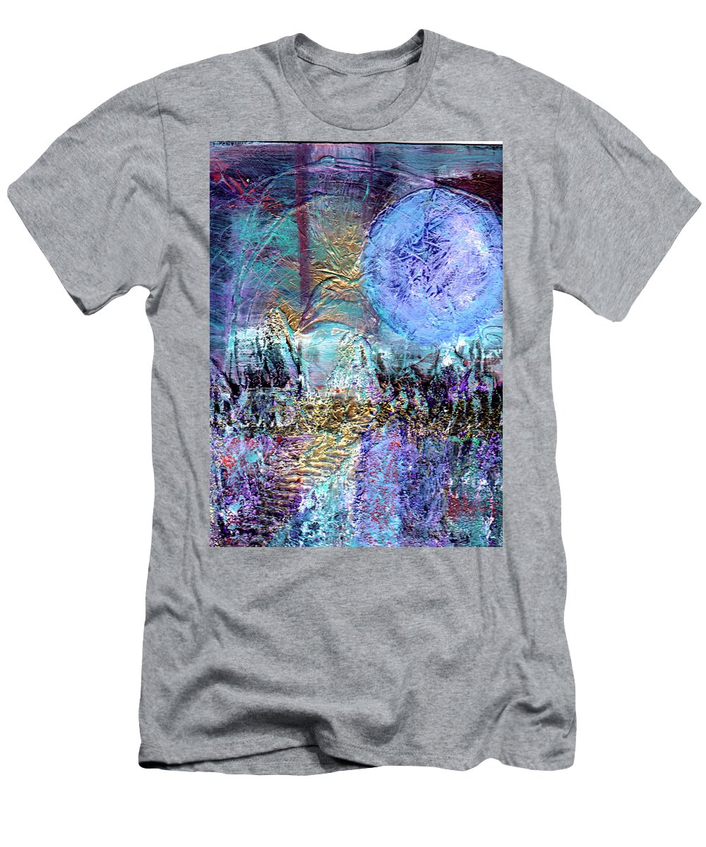 Surreal Men's T-Shirt (Athletic Fit) featuring the painting Another World by Wayne Potrafka