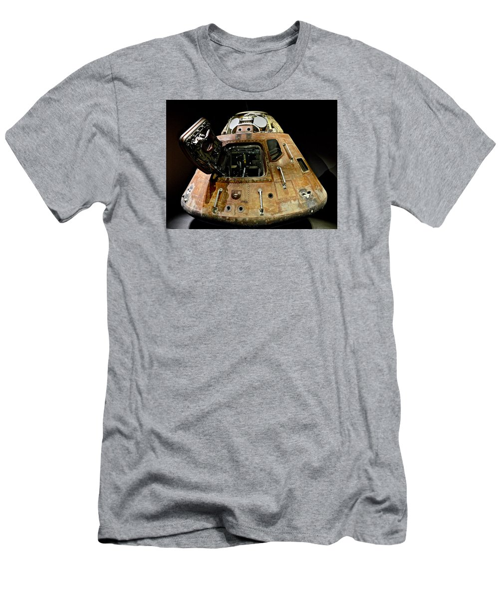 Shuttle Men's T-Shirt (Athletic Fit) featuring the photograph Apollo 11 Lunar Lander by Colin Perkins