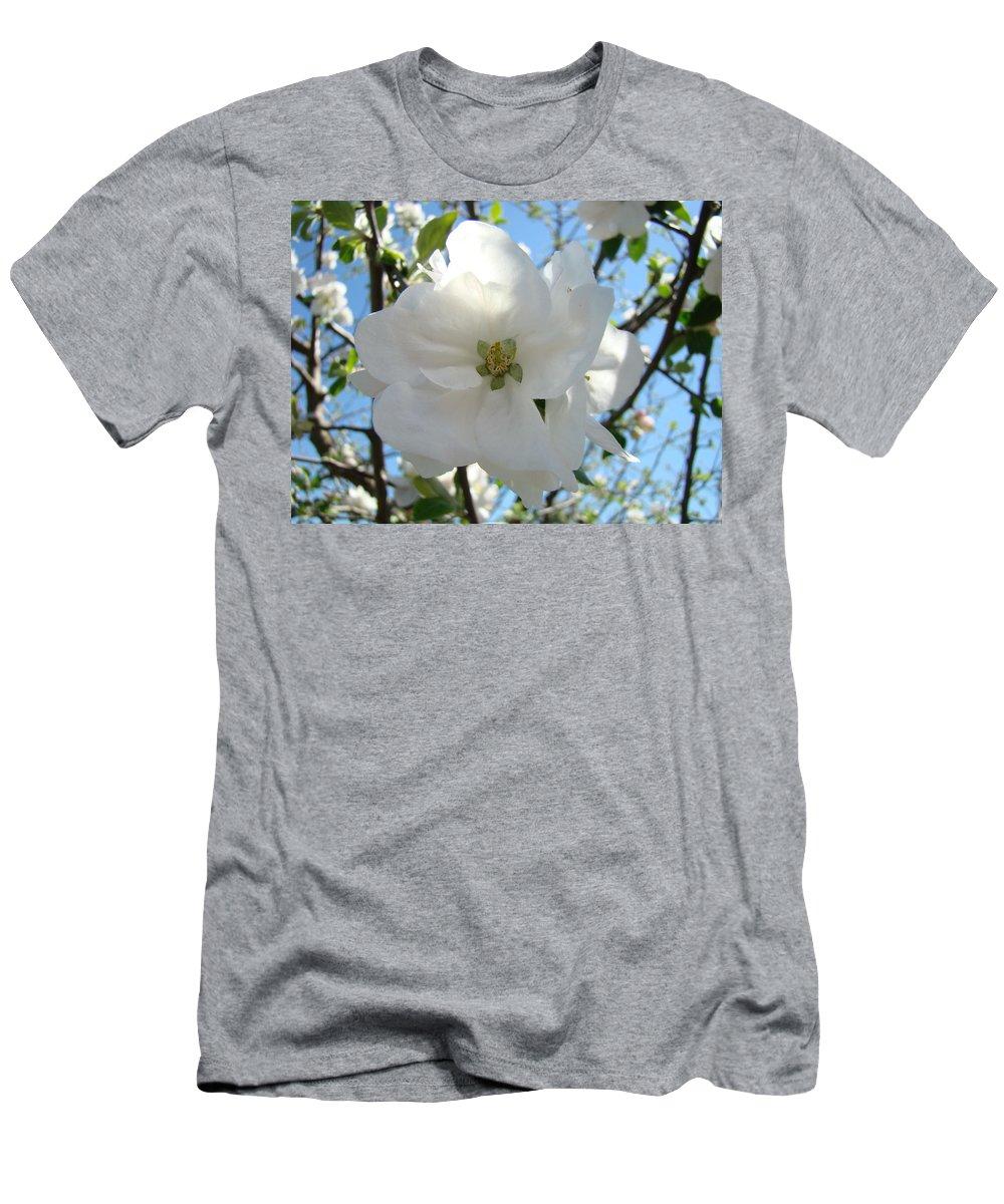 Apple Men's T-Shirt (Athletic Fit) featuring the photograph Apple Blossoms Art Prints Canvas Spring Tree Blossom Baslee Troutman by Baslee Troutman