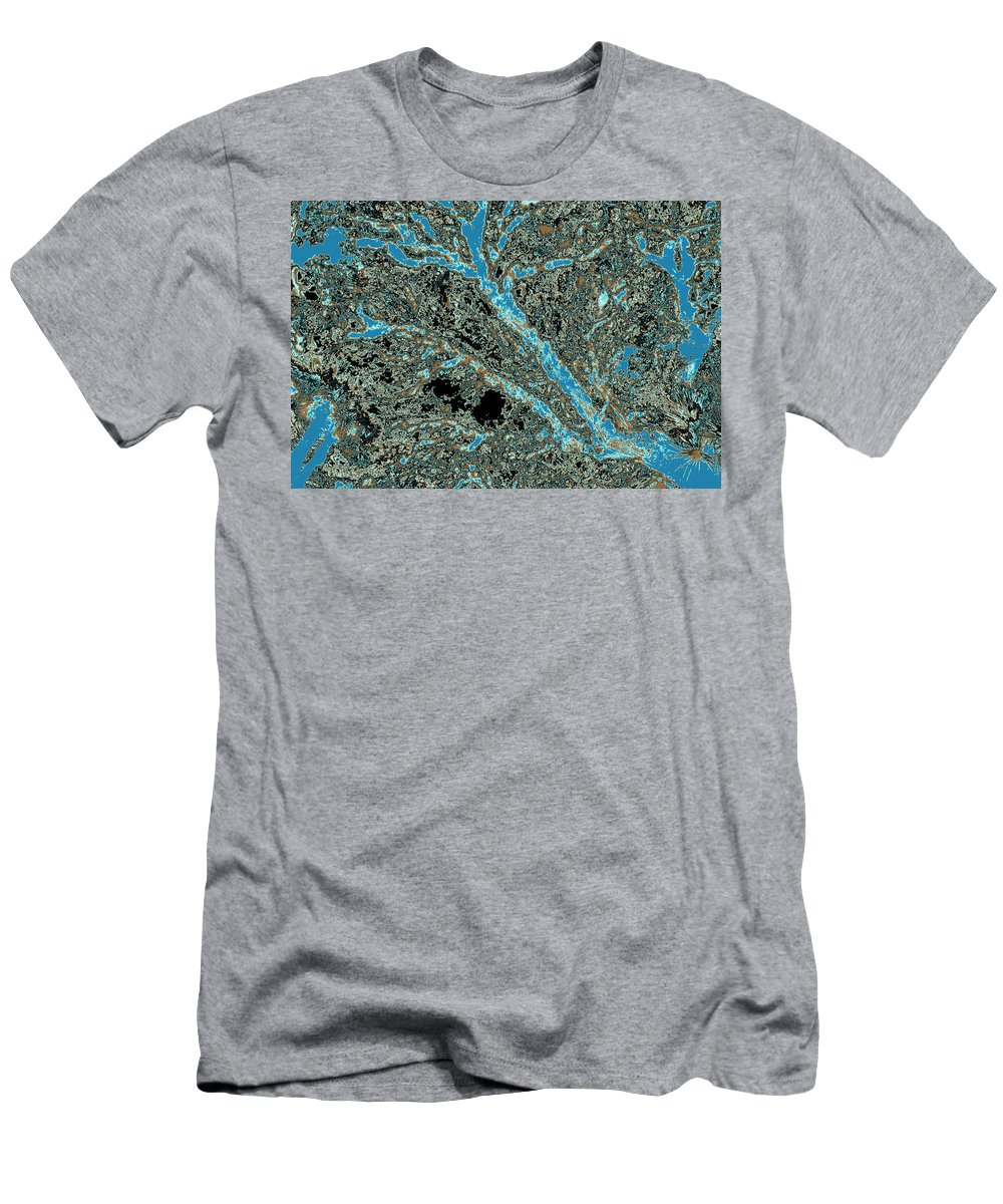 Trees Men's T-Shirt (Athletic Fit) featuring the photograph Arboreal Plateau 25 by Gary Bartoloni