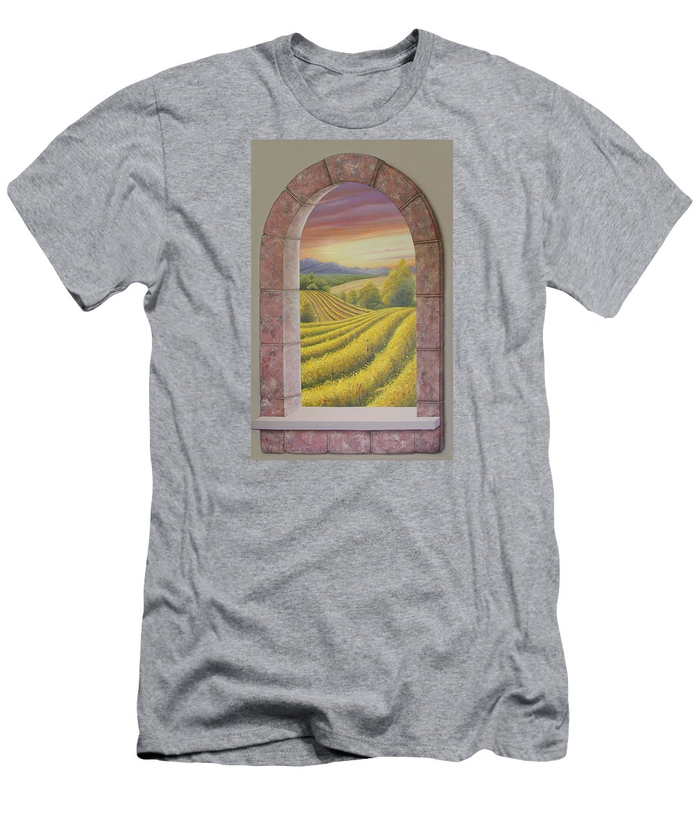 Realistic Men's T-Shirt (Athletic Fit) featuring the painting Arco Vinal by Angel Ortiz