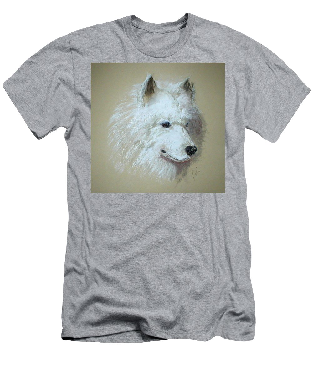Dog Men's T-Shirt (Athletic Fit) featuring the drawing Arctic Serenity by Cori Solomon