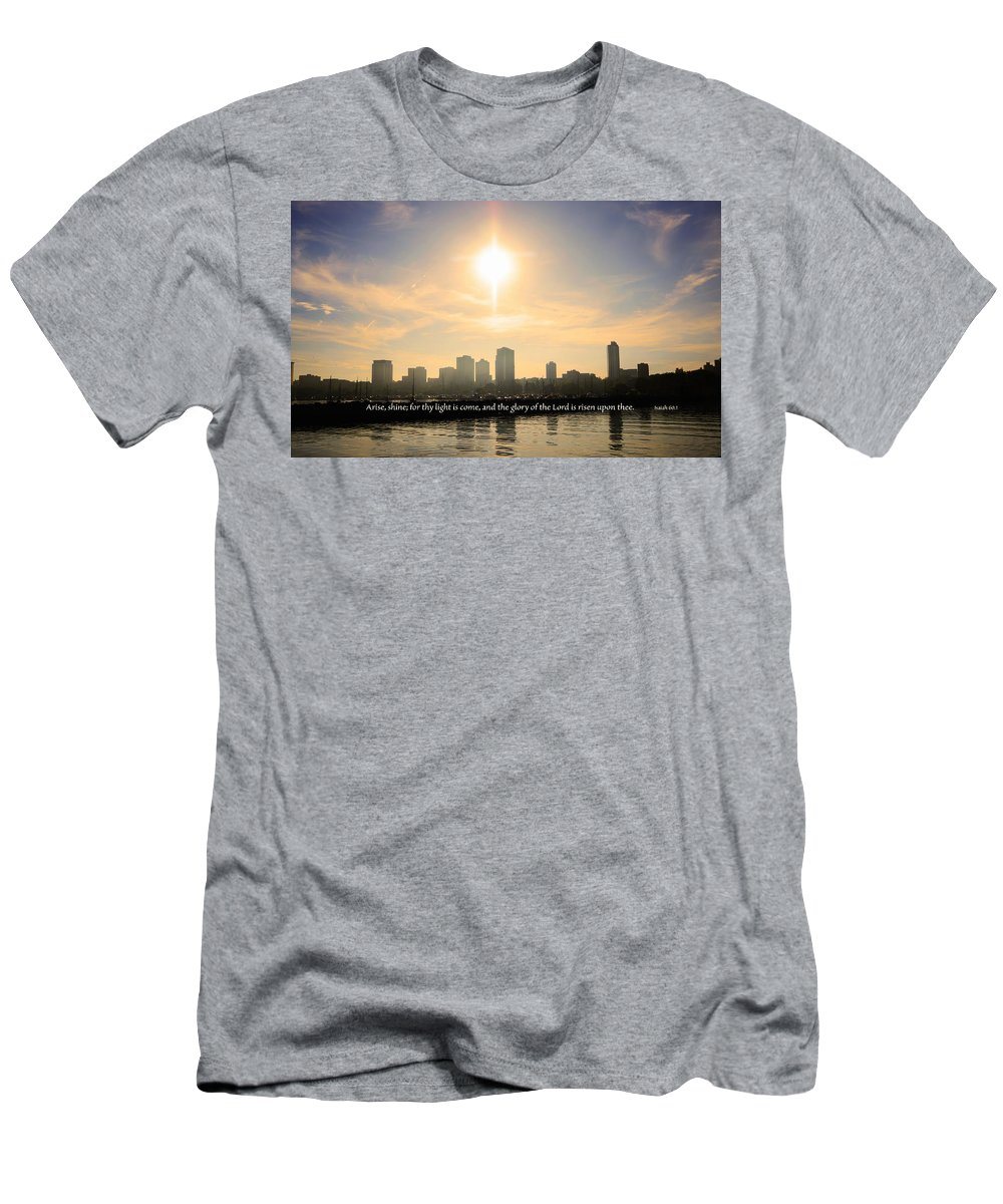 Milwaukee Men's T-Shirt (Athletic Fit) featuring the photograph Arise Shine by Debbie Nobile