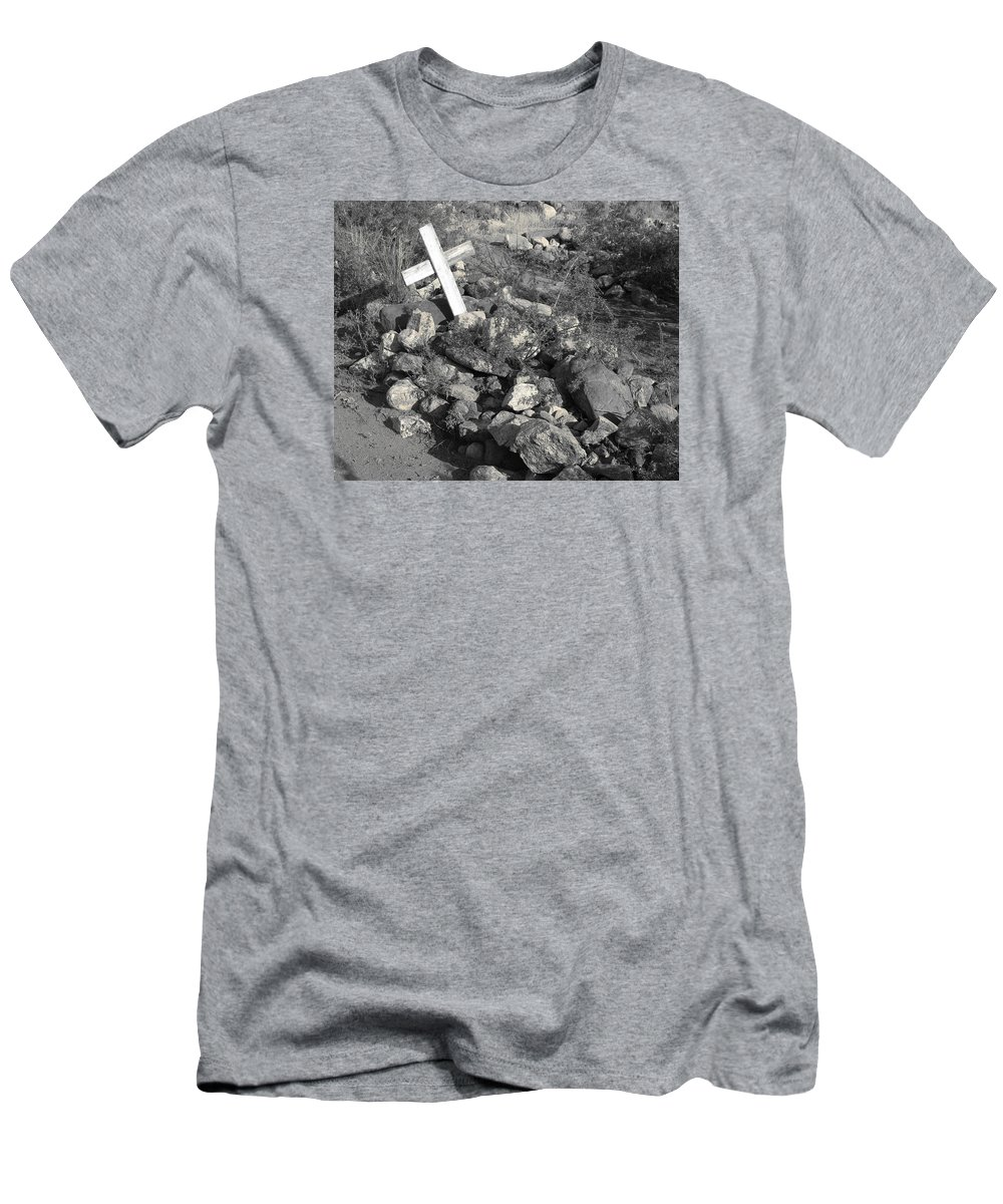 Grave Men's T-Shirt (Athletic Fit) featuring the photograph Asleep by Rachel Knight