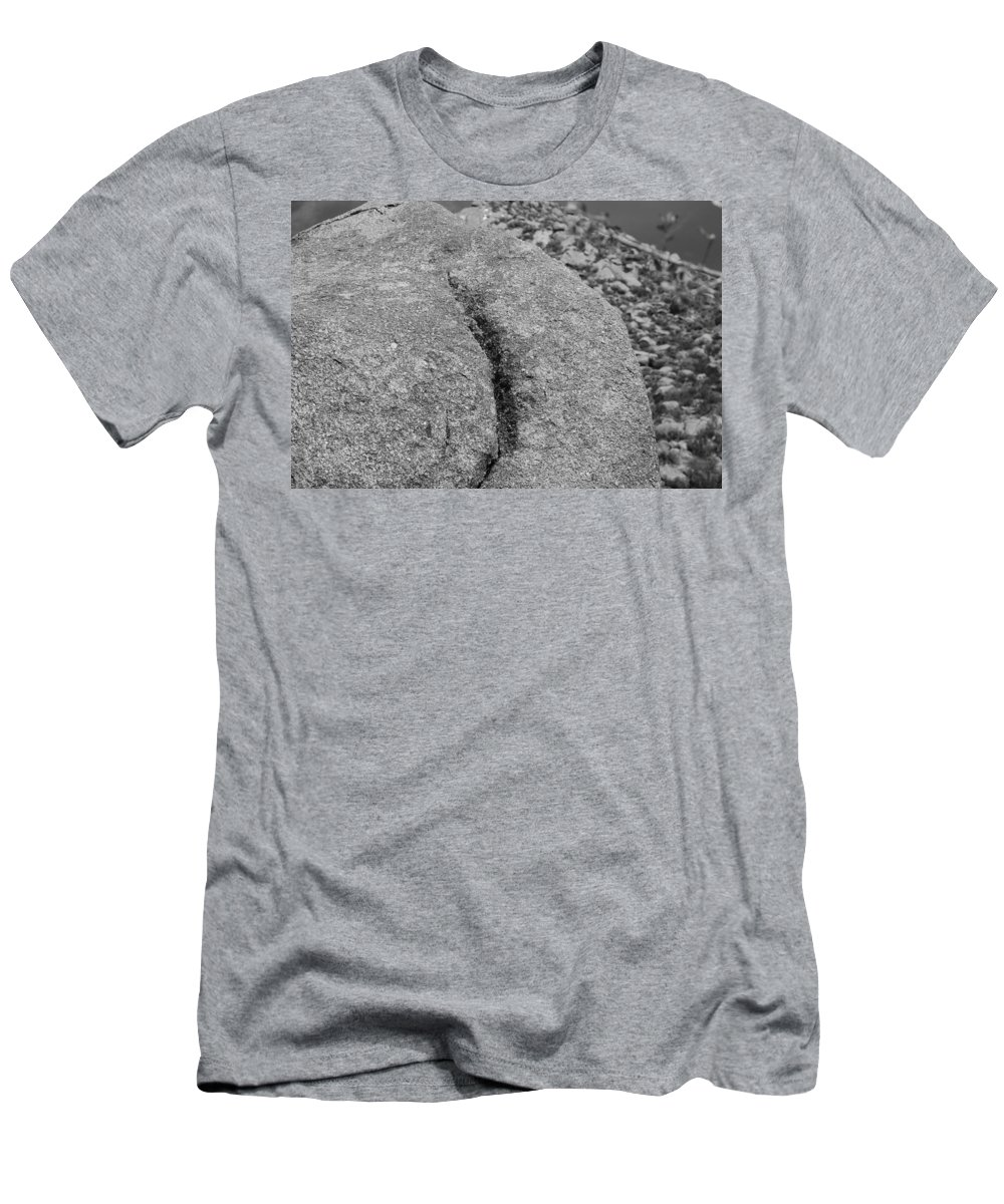 Rock Men's T-Shirt (Athletic Fit) featuring the photograph Ass Crack New Mexico In Black And White by Rob Hans