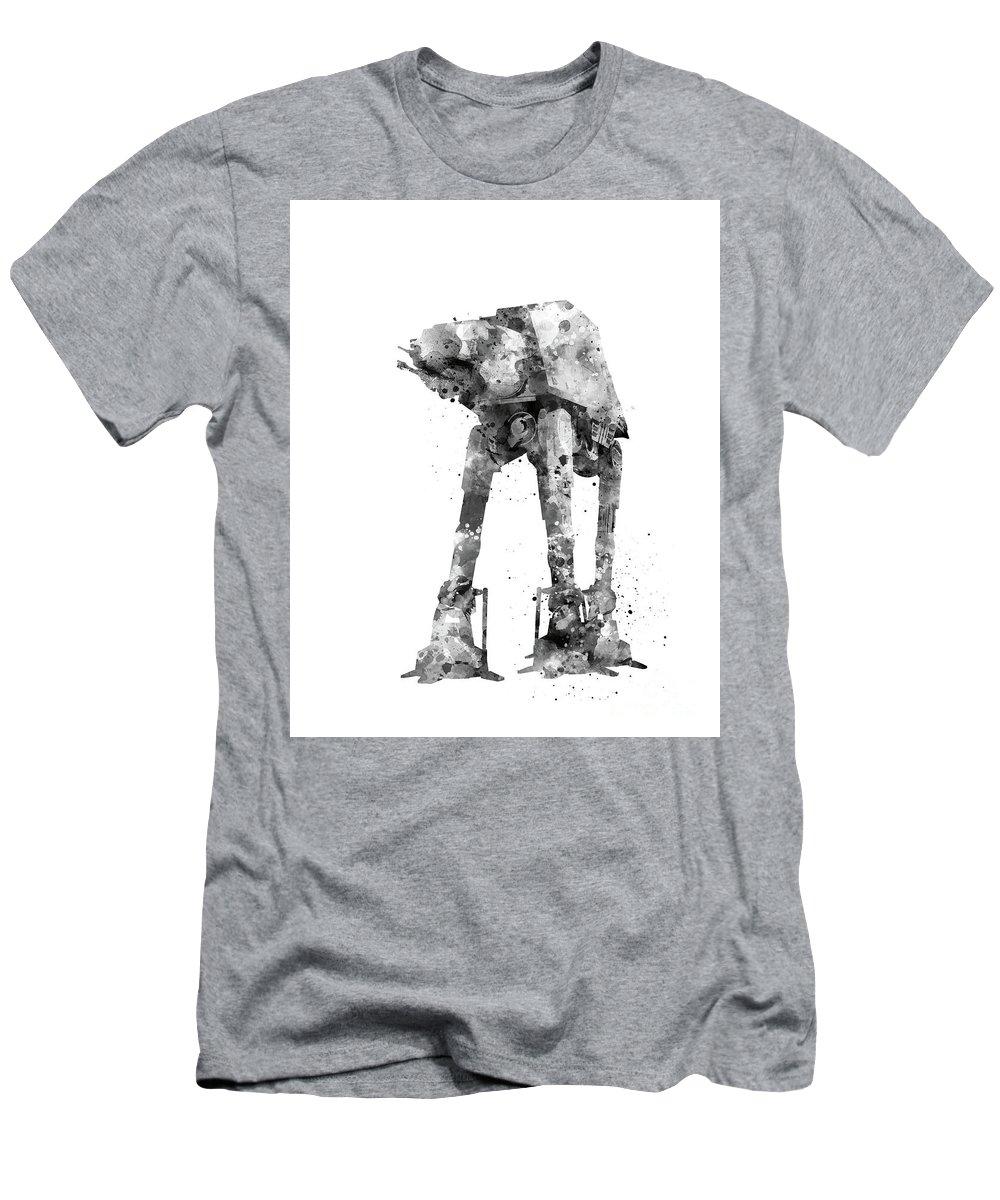 At-at Walker Men's T-Shirt (Athletic Fit) featuring the mixed media At-at Walker by Monn Print