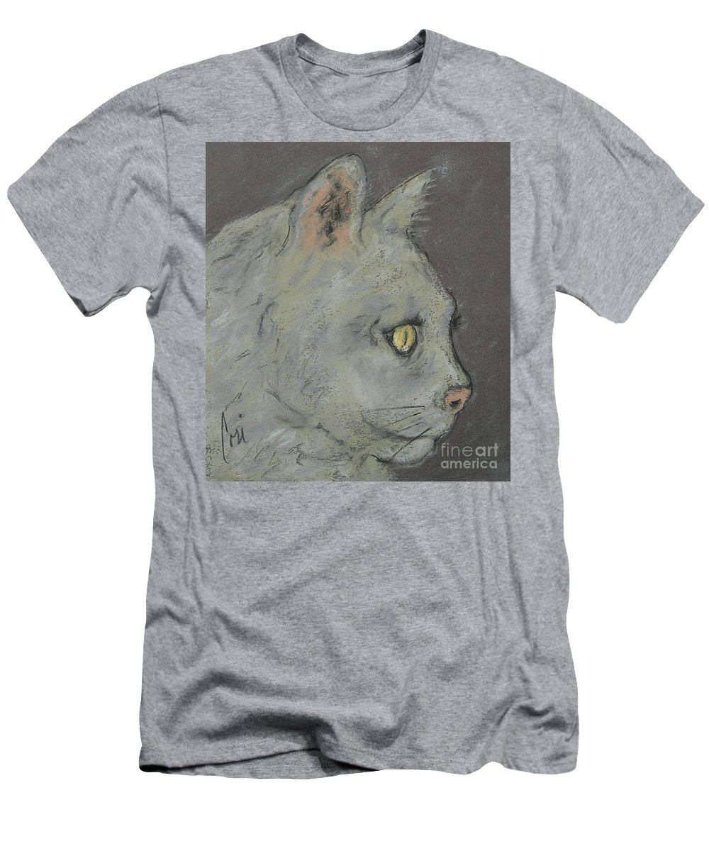 Pastels Men's T-Shirt (Athletic Fit) featuring the drawing At Peace by Cori Solomon