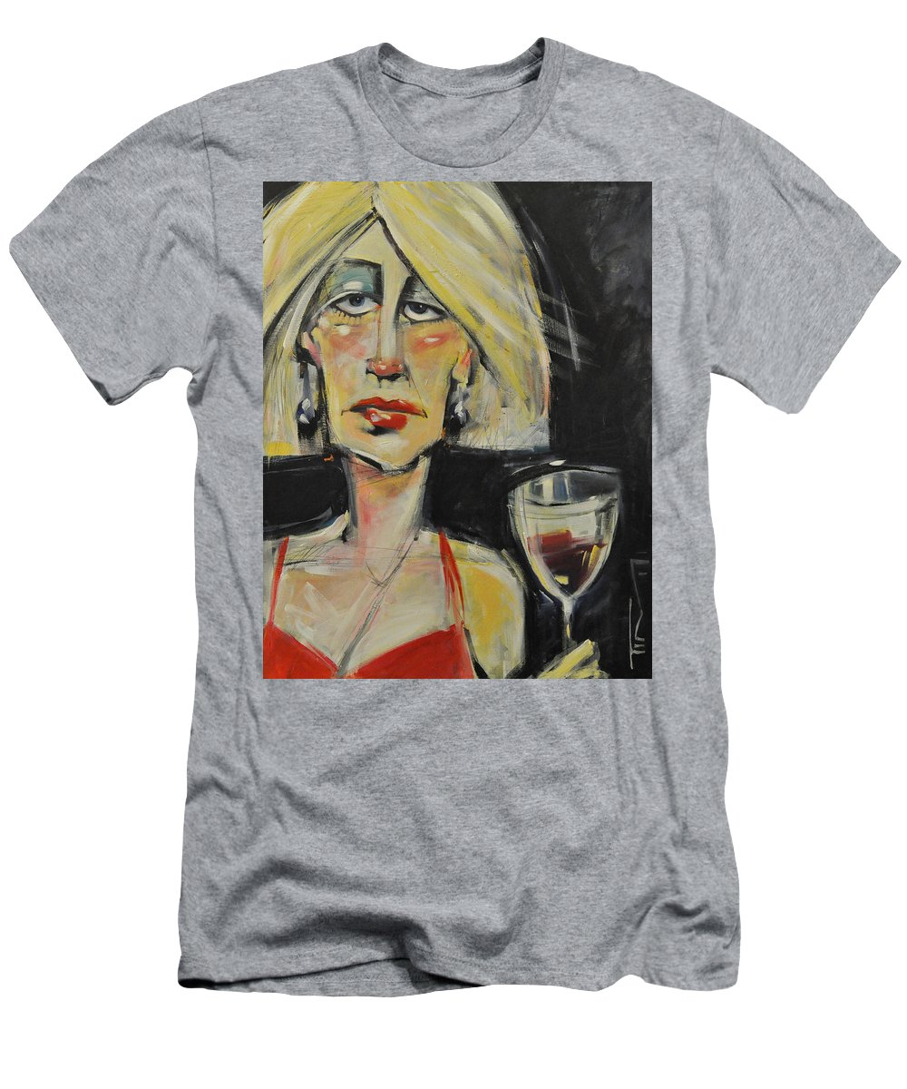 Woman Men's T-Shirt (Athletic Fit) featuring the painting At The Gala - Reprise by Tim Nyberg