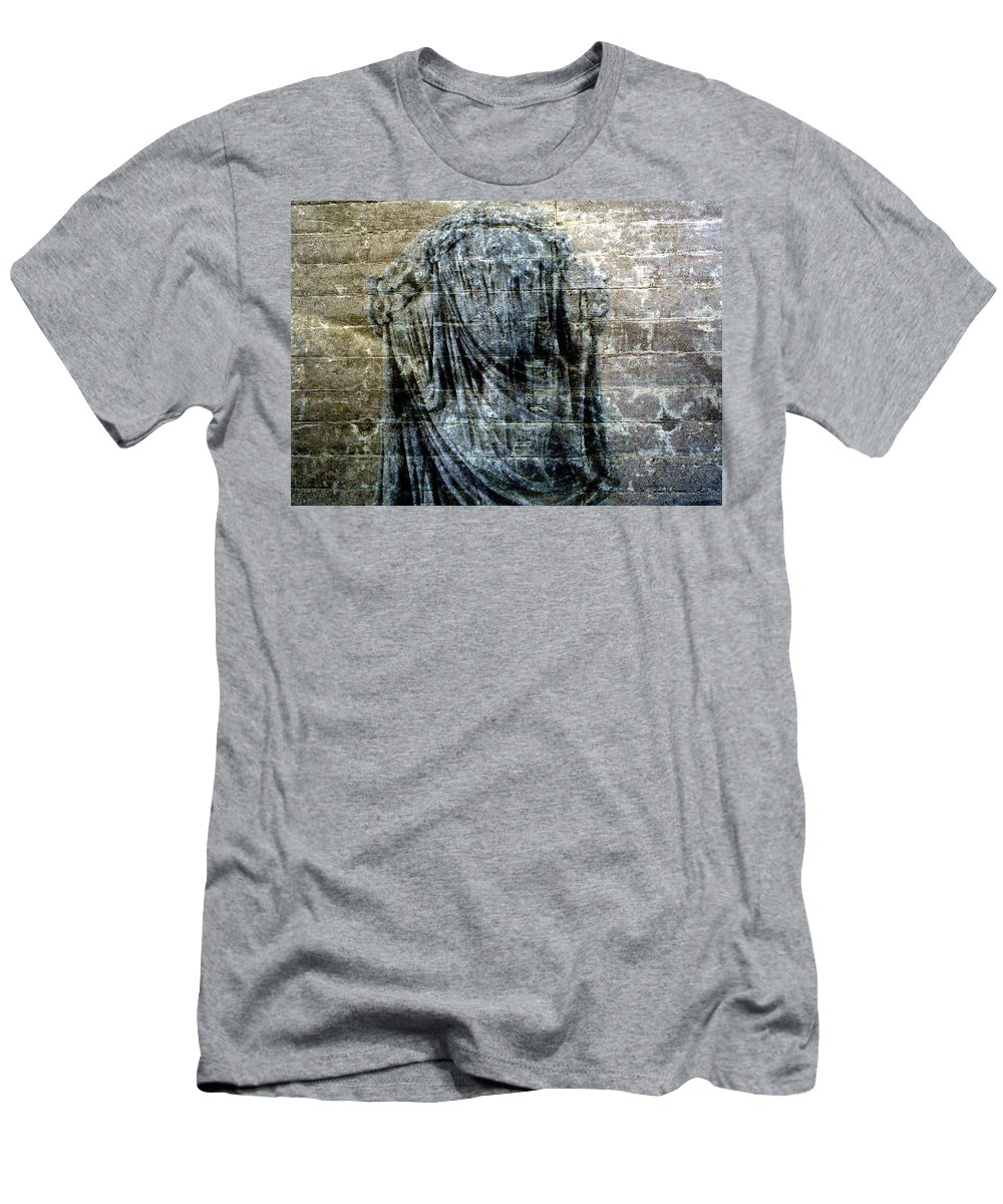 Woman Men's T-Shirt (Athletic Fit) featuring the digital art At The Wall by Derick Burke