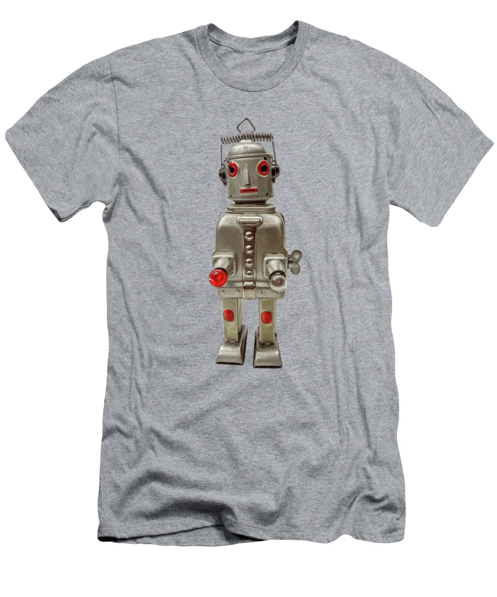 Art Men's T-Shirt (Athletic Fit) featuring the photograph Atomic Tin Robot by YoPedro