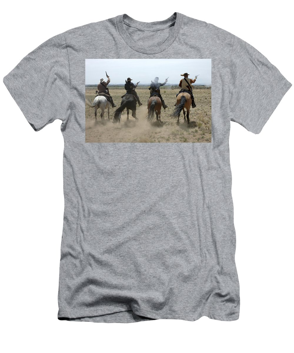 Old West Men's T-Shirt (Athletic Fit) featuring the photograph Attack by Jerry McElroy