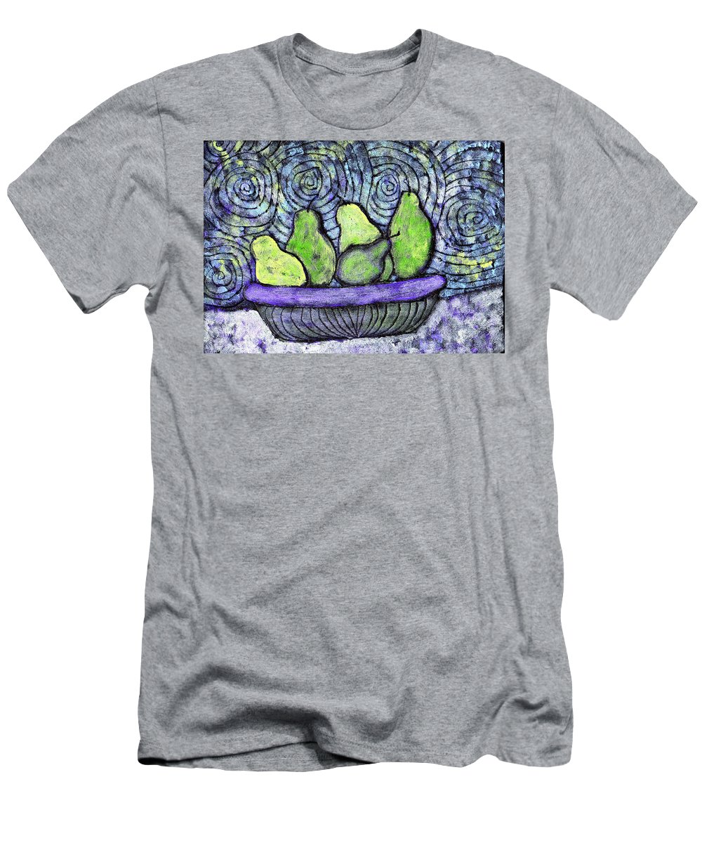 Food Men's T-Shirt (Athletic Fit) featuring the painting August Pears by Wayne Potrafka