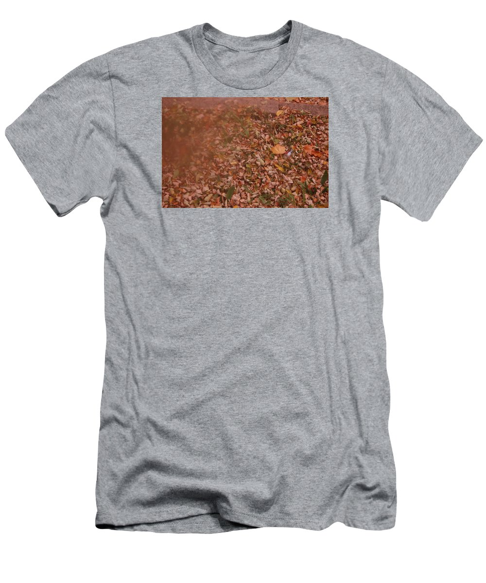 Seasons Men's T-Shirt (Athletic Fit) featuring the photograph Autum Leaves by Alwyn Glasgow
