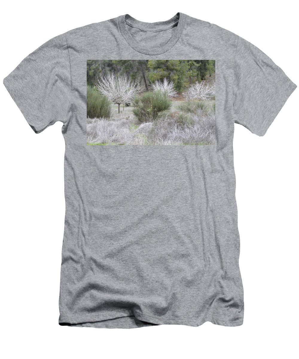 Autumn Men's T-Shirt (Athletic Fit) featuring the photograph Autumn In Lachish 3 by Dubi Roman