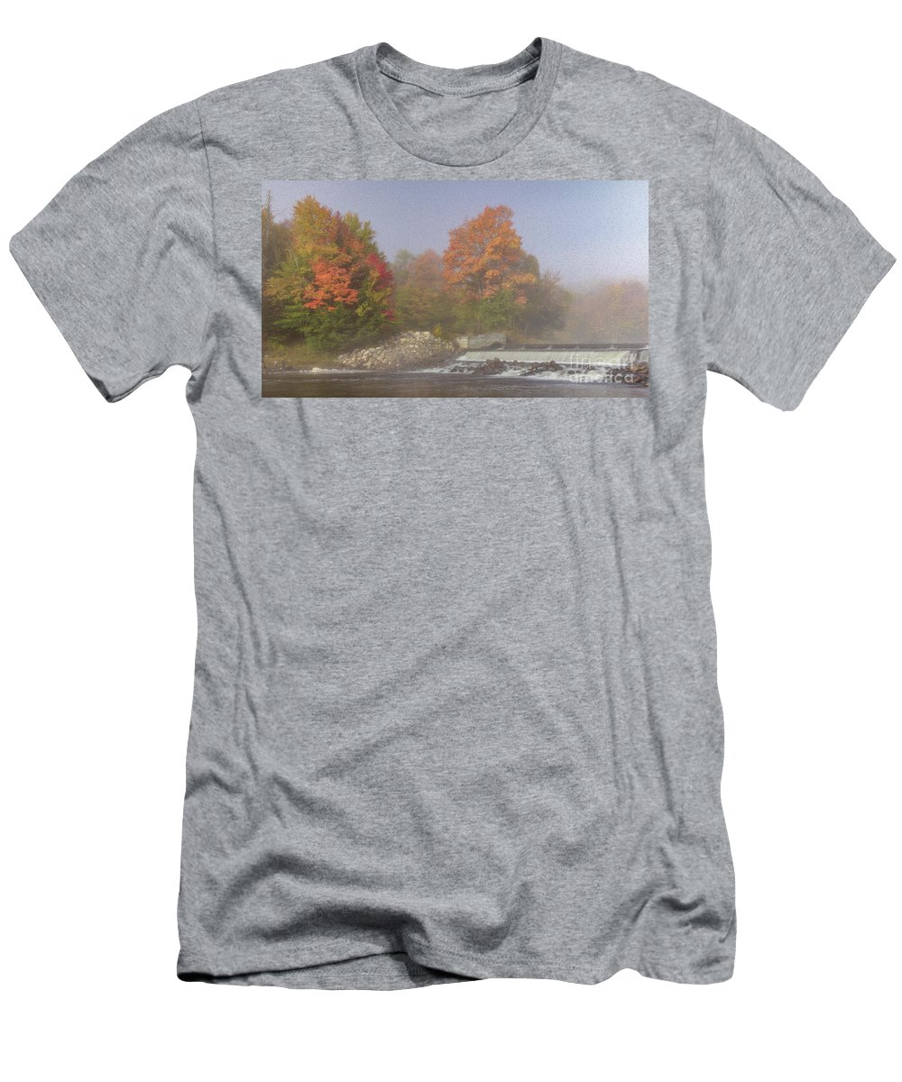 Fall Men's T-Shirt (Athletic Fit) featuring the photograph Autumn On The Moose by Rod Best