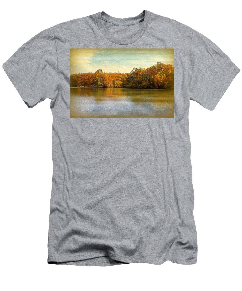 Autumn Men's T-Shirt (Athletic Fit) featuring the photograph Autumn by Sandy Keeton