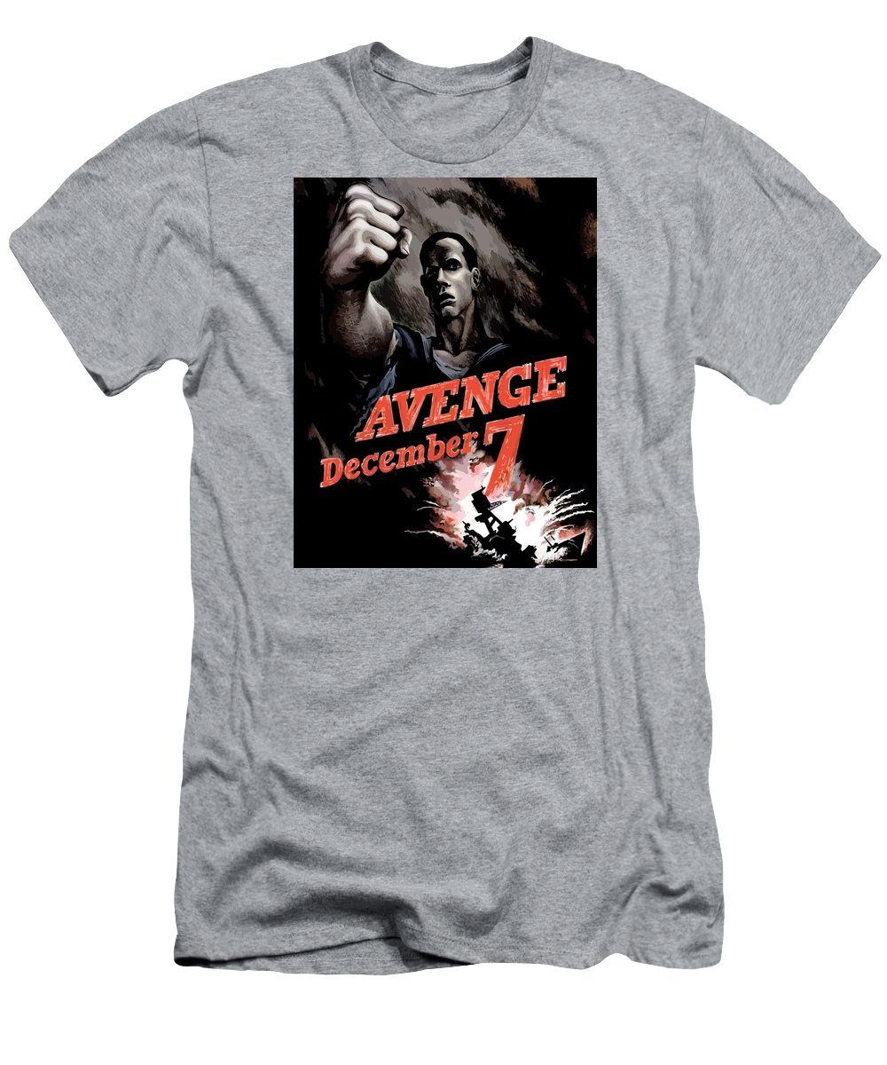 Propaganda Men's T-Shirt (Athletic Fit) featuring the painting Avenge December 7th by War Is Hell Store