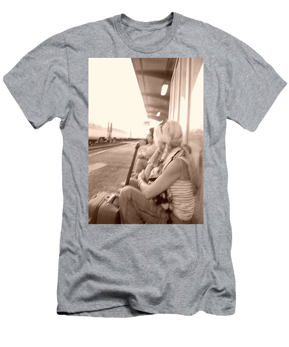 Men's T-Shirt (Athletic Fit) featuring the photograph Awaiting Game 2 by Fay Lawrence