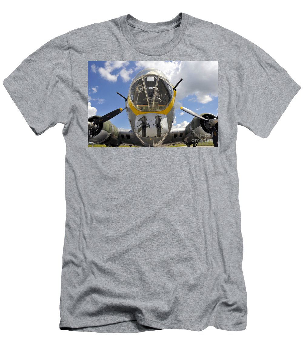 B 17 Men's T-Shirt (Athletic Fit) featuring the photograph B Seventeen Nose by David Lee Thompson