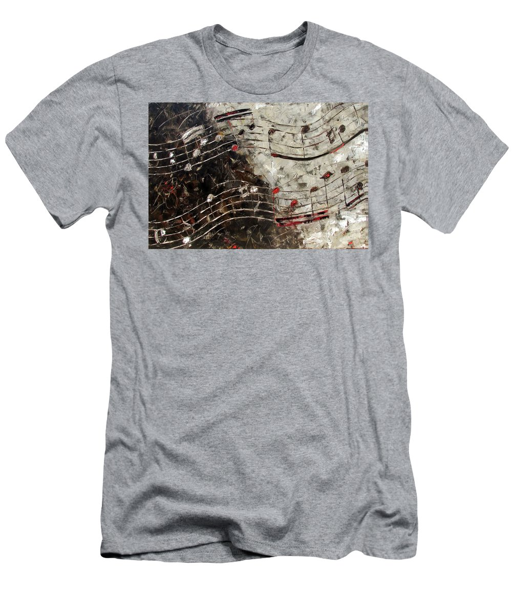 Bach Invention T-Shirt featuring the painting Bach Invention 13 by Debra Hurd