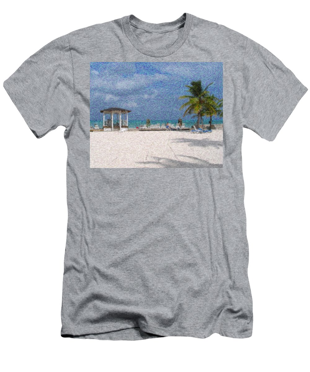 Lanscapes Men's T-Shirt (Athletic Fit) featuring the digital art Bahamas by Julie Niemela