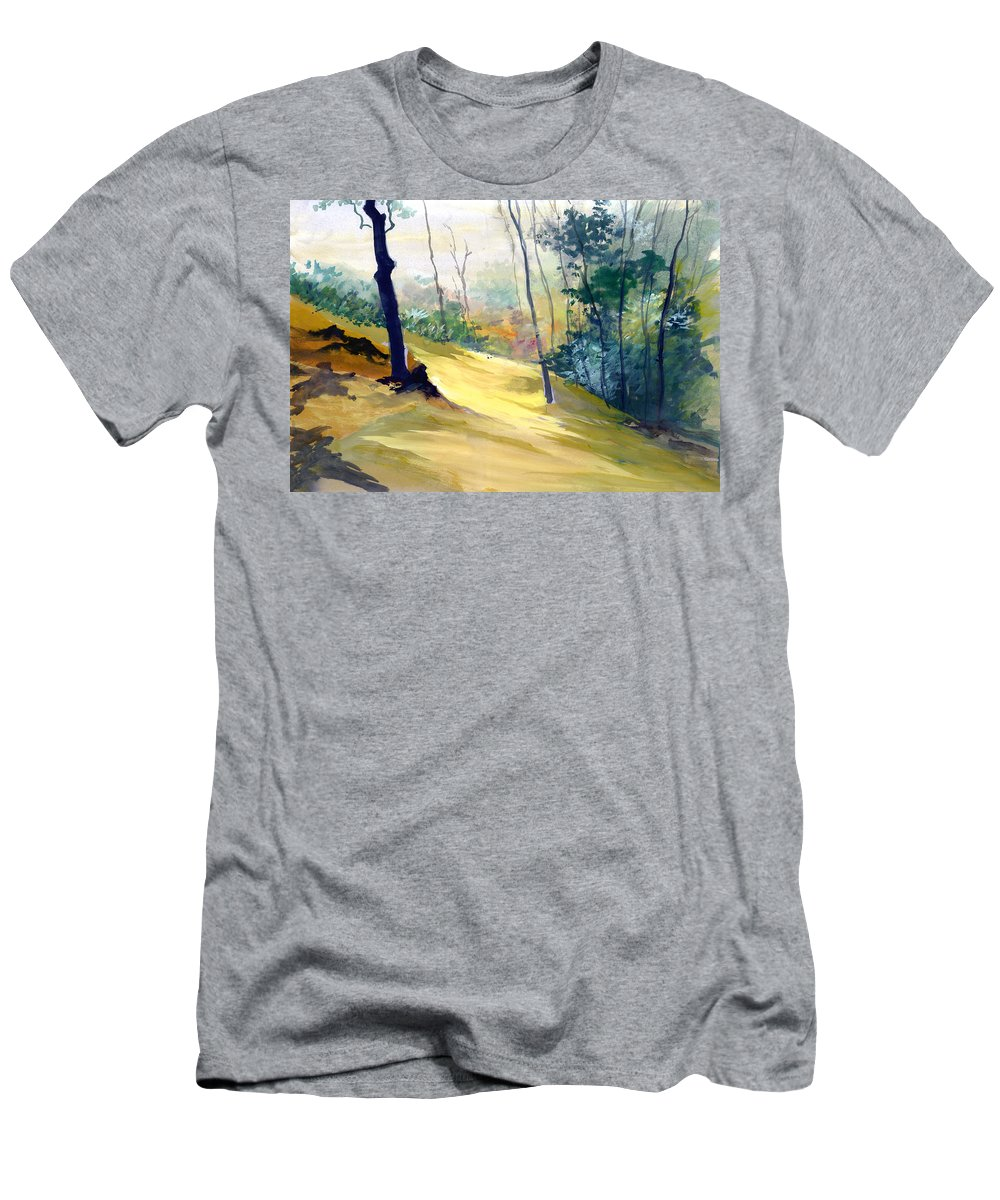 Landscape Men's T-Shirt (Athletic Fit) featuring the painting Balance by Anil Nene