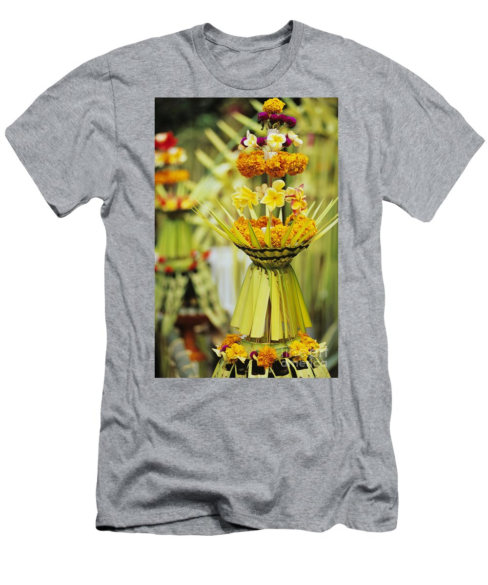 Asian Cultural Art Men's T-Shirt (Athletic Fit) featuring the photograph Balinese Ceremony by Dana Edmunds - Printscapes
