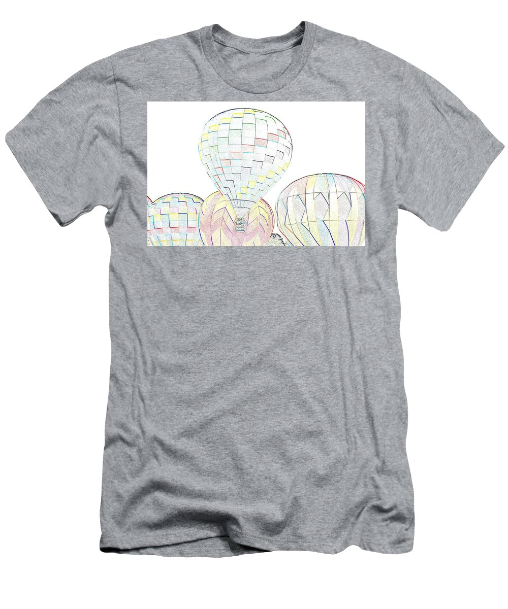 Balloons Men's T-Shirt (Athletic Fit) featuring the photograph Balloon Day by Charles HALL