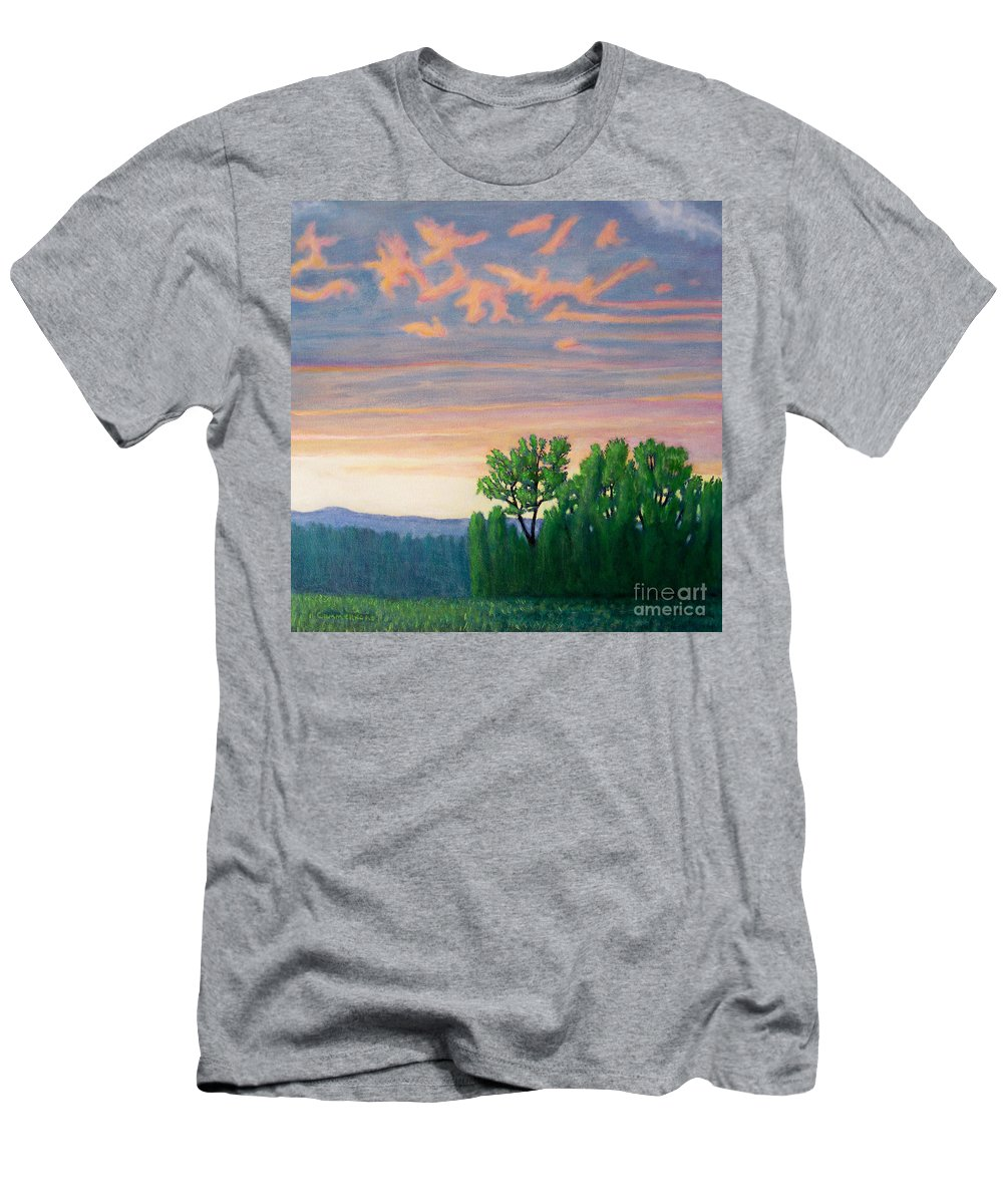 Landscape Men's T-Shirt (Athletic Fit) featuring the painting Balsa Road by Brian Commerford