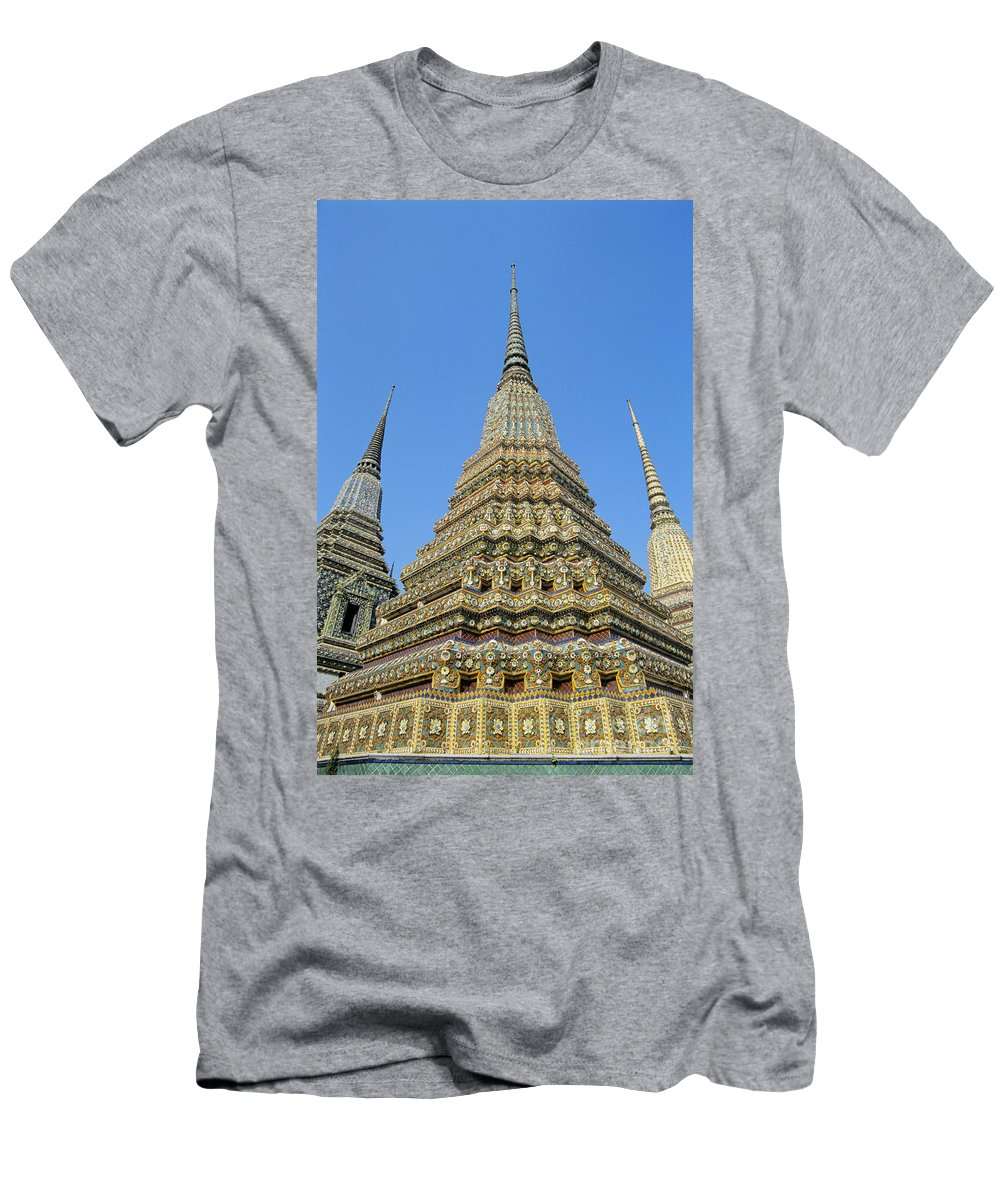 Architectural Men's T-Shirt (Athletic Fit) featuring the photograph Bangkok, Wat Po by Gloria & Richard Maschmeyer - Printscapes