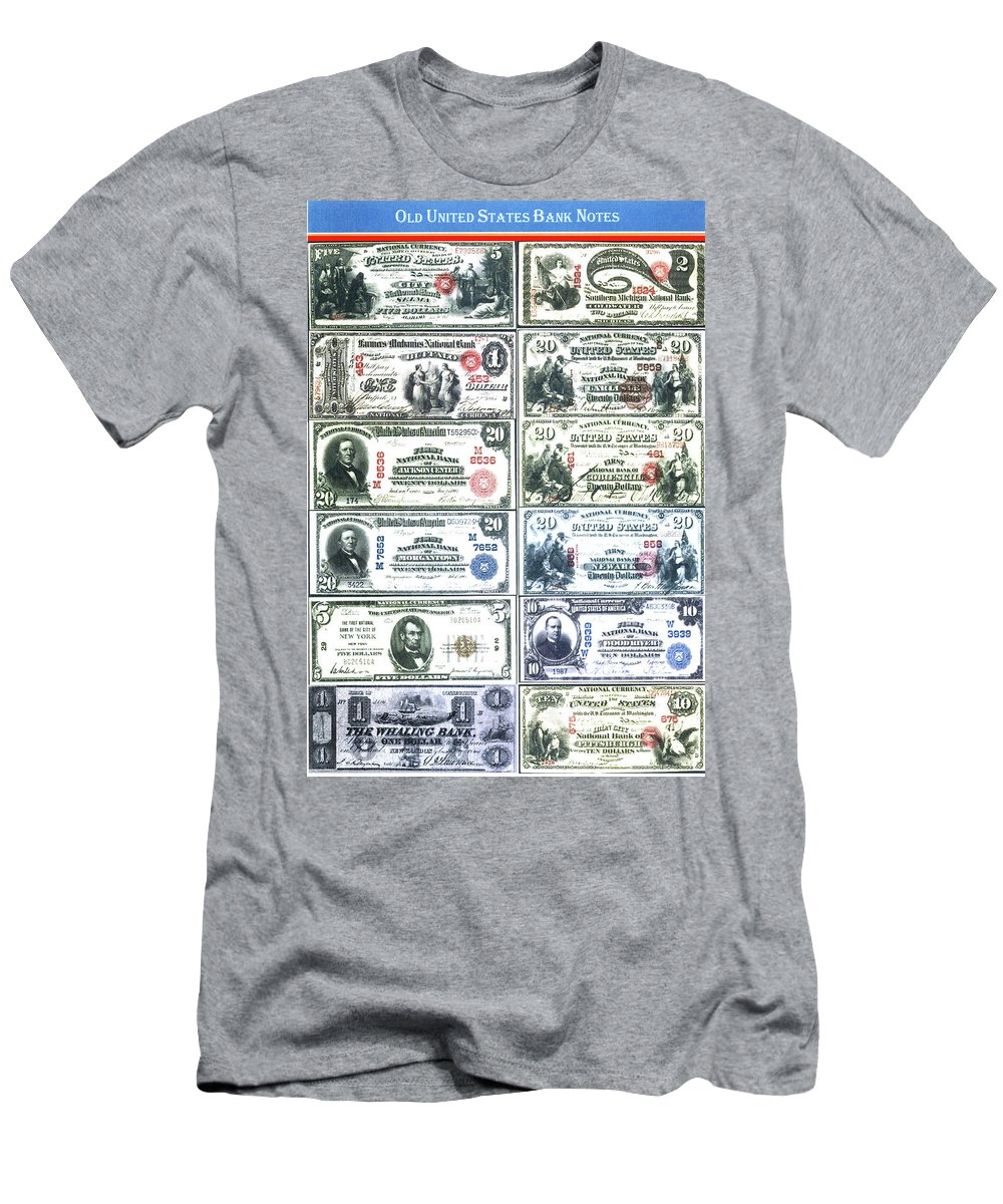 Bank Notes Men's T-Shirt (Athletic Fit) featuring the photograph Banknotes by Imagery-at- Work