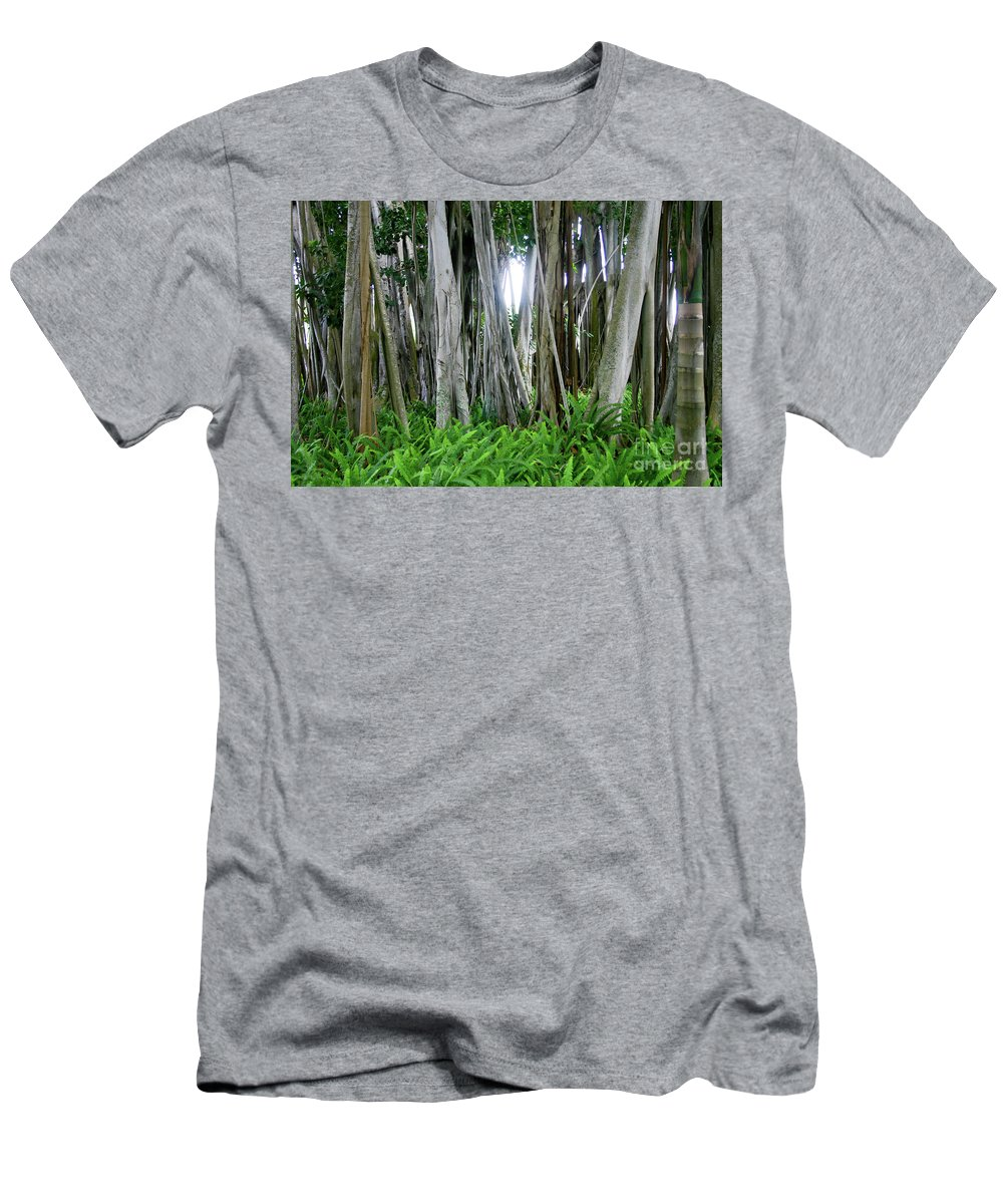 Tree Men's T-Shirt (Athletic Fit) featuring the photograph Banyan Tree by Raleigh Art Gallery