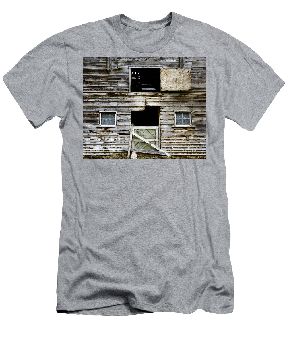 Barn Men's T-Shirt (Athletic Fit) featuring the photograph Barn Side by Wayne Sherriff